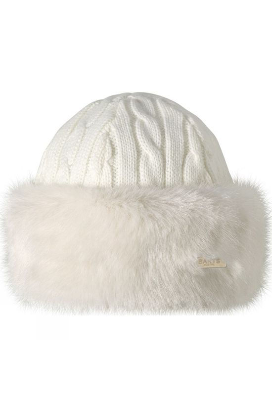 Barts Womens Fur Cable Bandhat White