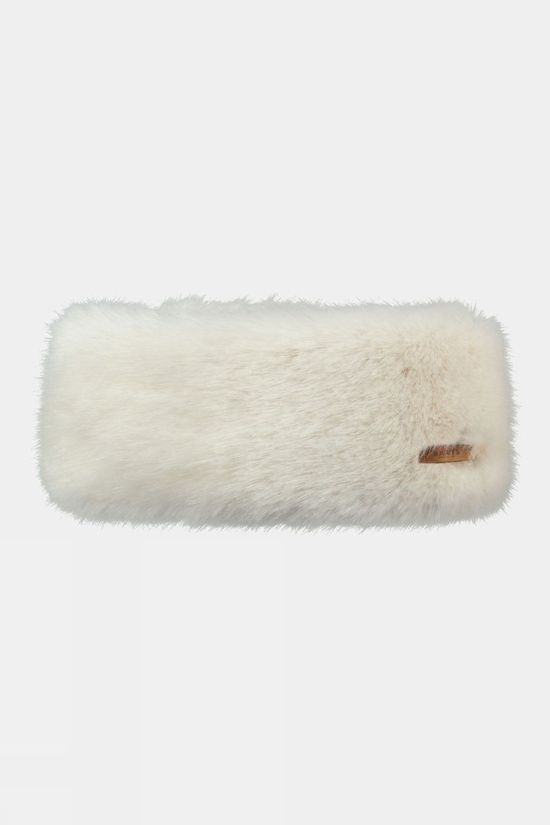 Barts Fur Headband Black White