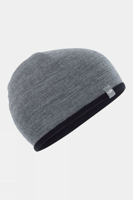 Icebreaker Pocket Hat Black/Gritstone Heather