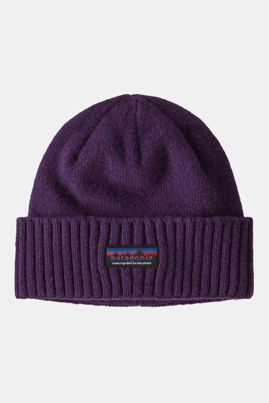Patagonia Brodeo Beanie Together for the Planet Label Purple