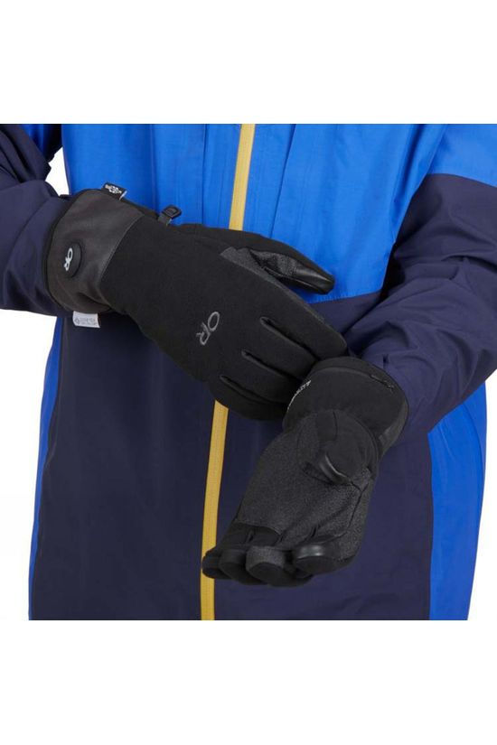 Outdoor Research Mens Gripper Heated Sensor Gloves Black