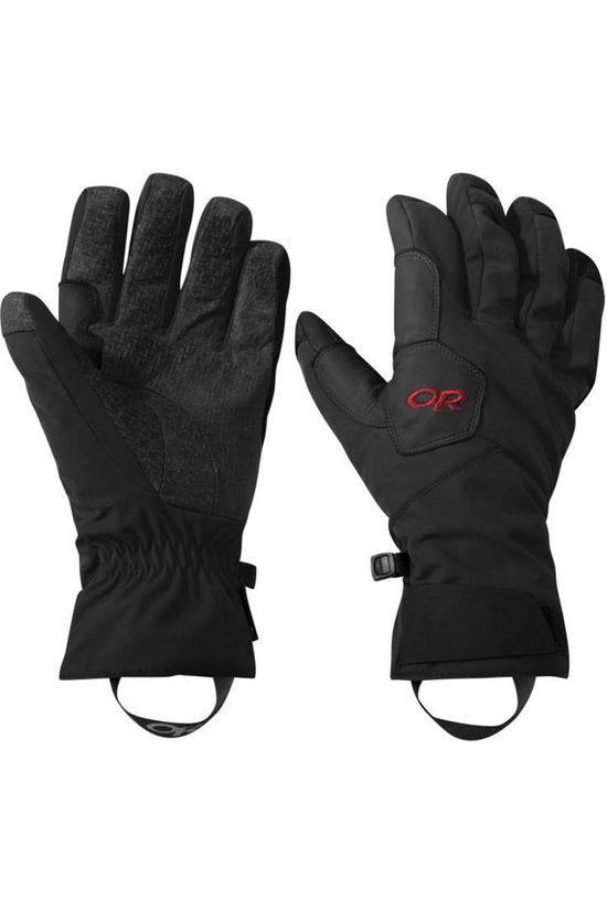 Outdoor Research Mens Bitterblaze Aerogel Gloves Black/Tomato