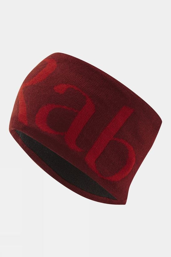 Rab Knitted Logo Headband Oxblood Red