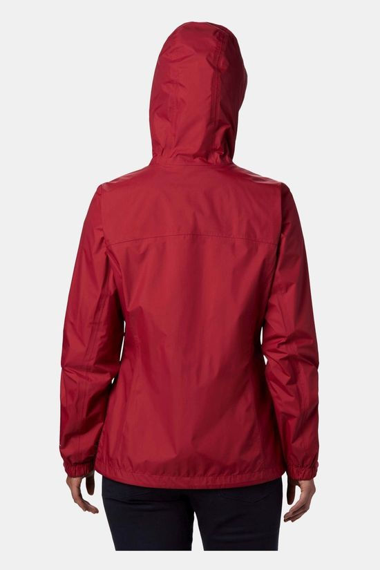 Columbia Womens Pouring Adventure Jacket Red Orchid