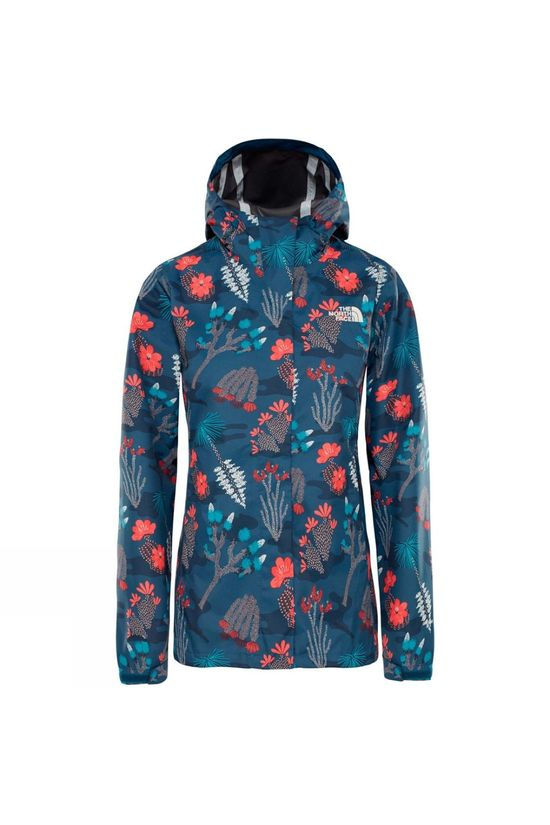 The North Face Womens Print Venture Jacket Blue Wing Teal Joshua Tree Print