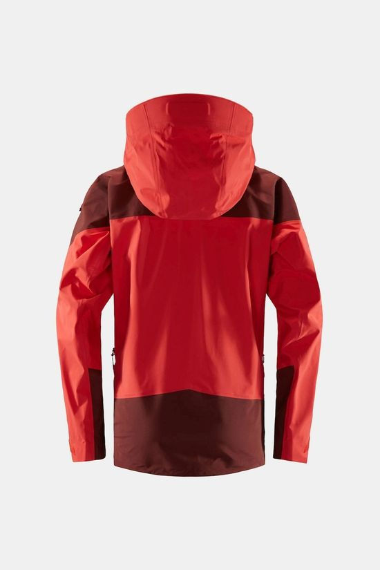 Haglofs Womens Roc Spire Jacket Hibiscus red/maroon red