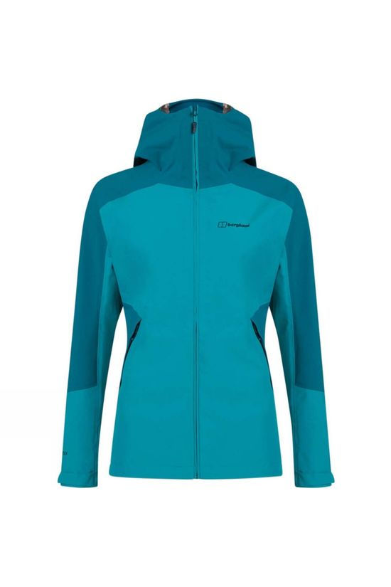 Berghaus Womens Parvati Shell Jacket Capri Breeze/Deep Lagoon