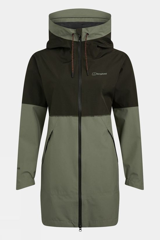 Berghaus Womens Rothley Shell Jacket Oil Green/Deep Depths