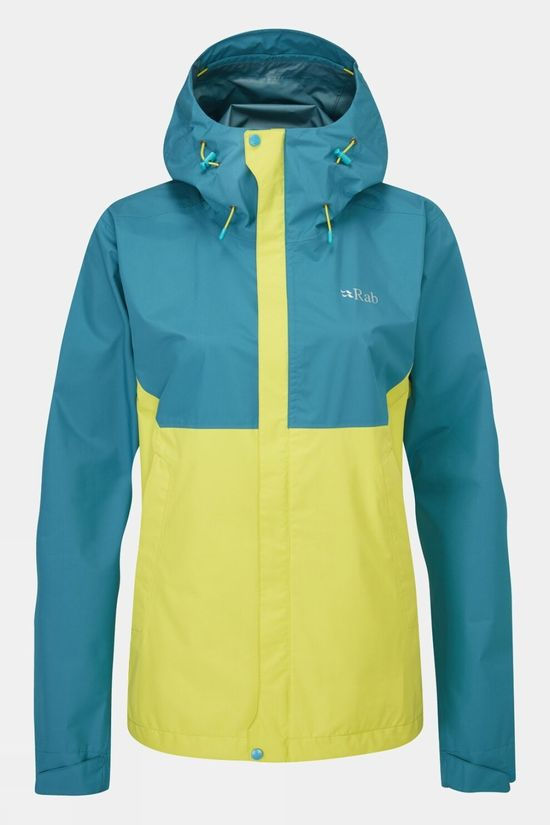 Rab Womens Downpour Eco Jacket Blue