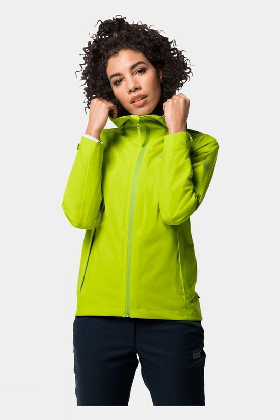Jack Wolfskin Womens JWP Shell Bright Lime