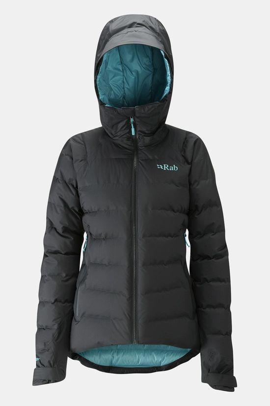 Rab Womens Valiance Jacket Black / Seaglass