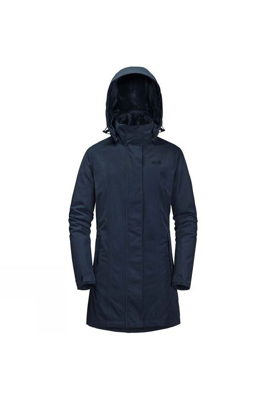 Jack Wolfskin Womens Madison Avenue Coat Midnight Blue