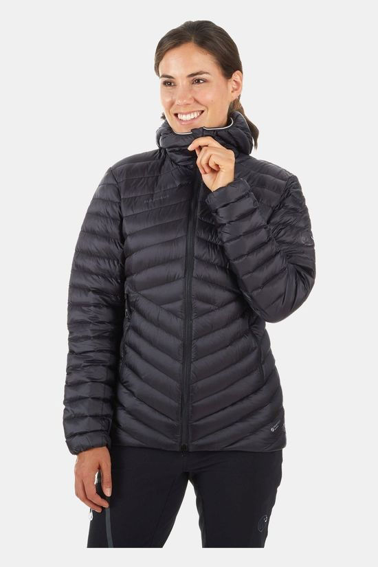 Mammut Womens Broad Peak Insulated Hooded Jacket Black-Phantom