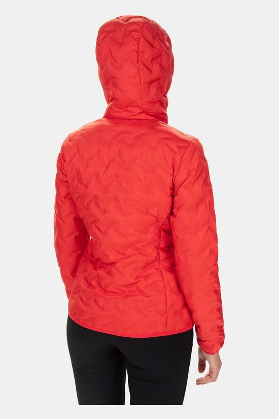 Columbia Womens Delta Ridge Down Hooded Jacket Red Lily
