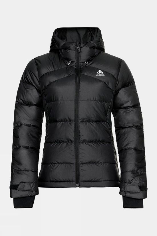 Odlo Womens Hoody Cocoon N-Thermic Warm Insulated Jacket Black Melange