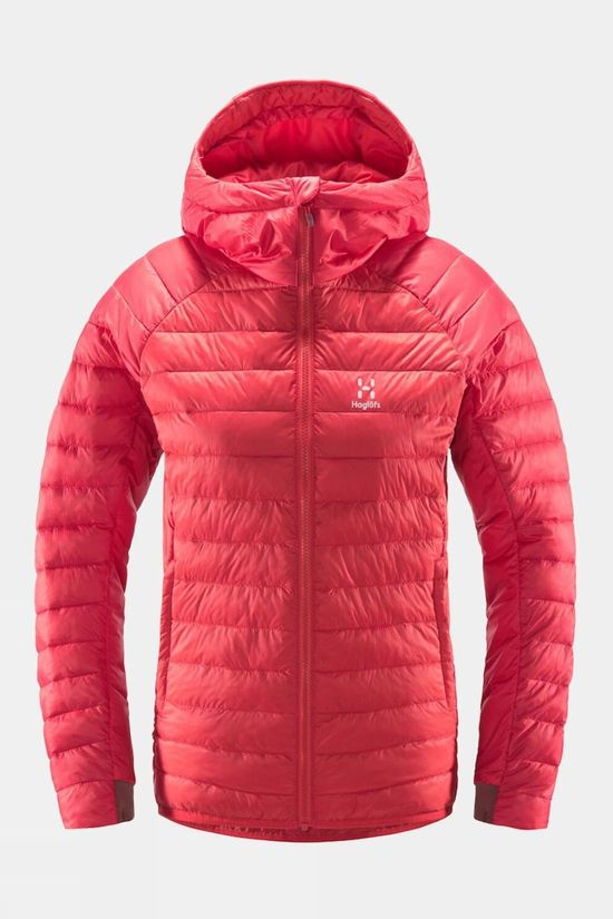 Haglofs Womens Spire Mimic Hood Hibiscus Red
