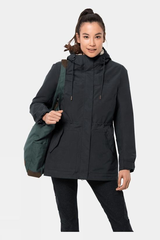 Jack Wolfskin Womens Rock Island 3 in 1 Parka Phantom