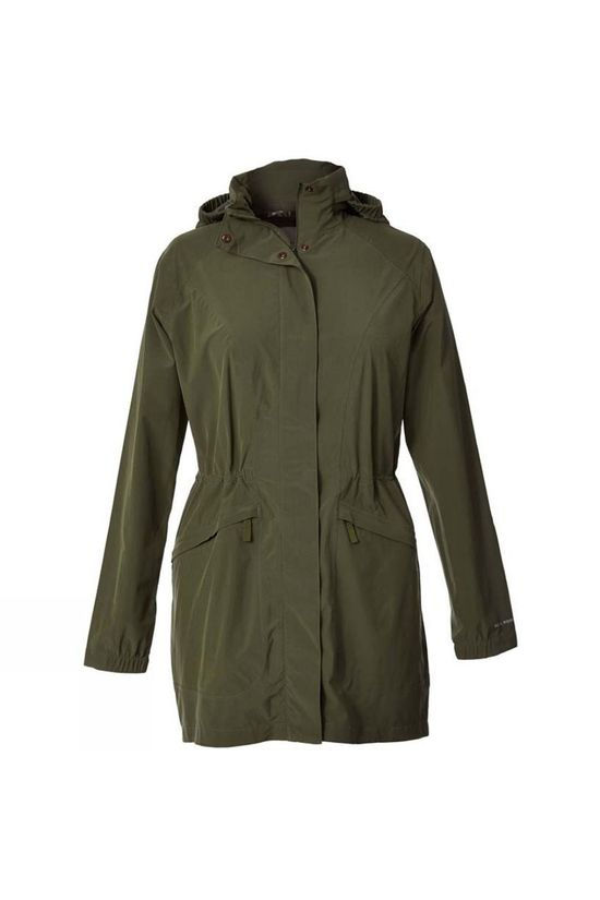 Royal Robbins Womens Oakham Waterproof Trench Jacket Bayleaf
