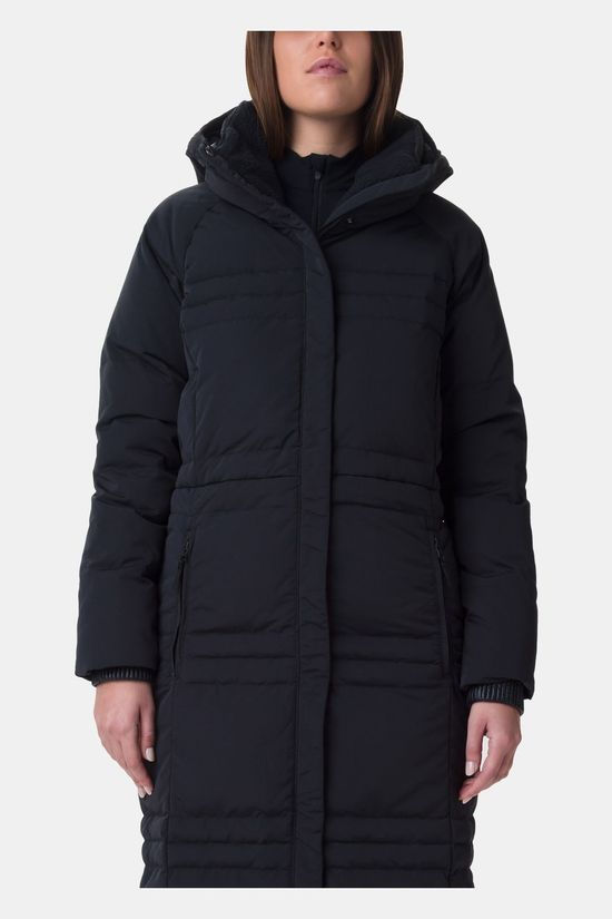 Columbia Womens Ruby Falls Down Long Jacket Black, Black Sherpa