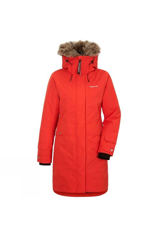 Didriksons Womens Elin Parka Lava Red