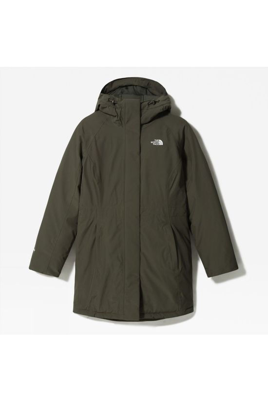 The North Face Womens Recycled Brooklyn Parka New Taupe Green