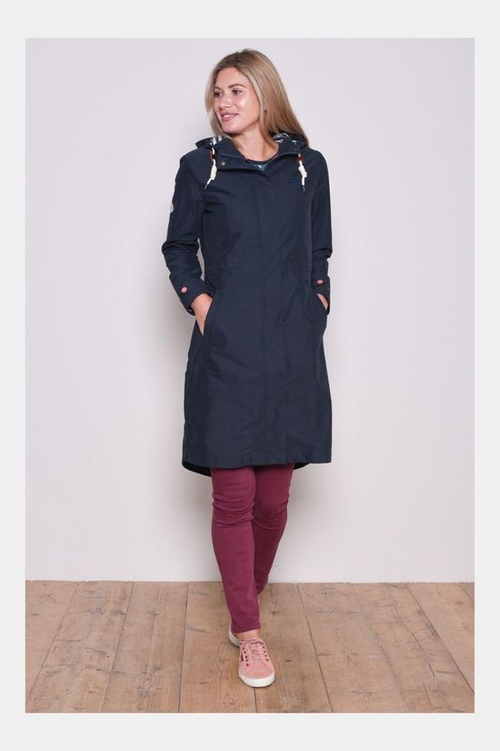 Brakeburn Womens Sandbanks Long Line Jacket Navy