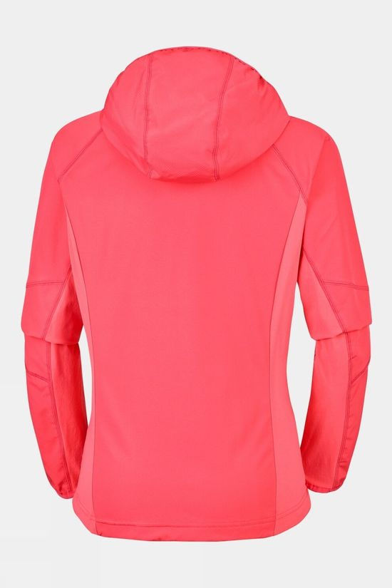Columbia Womens Sweet As Softshell Hoodie Red Coral
