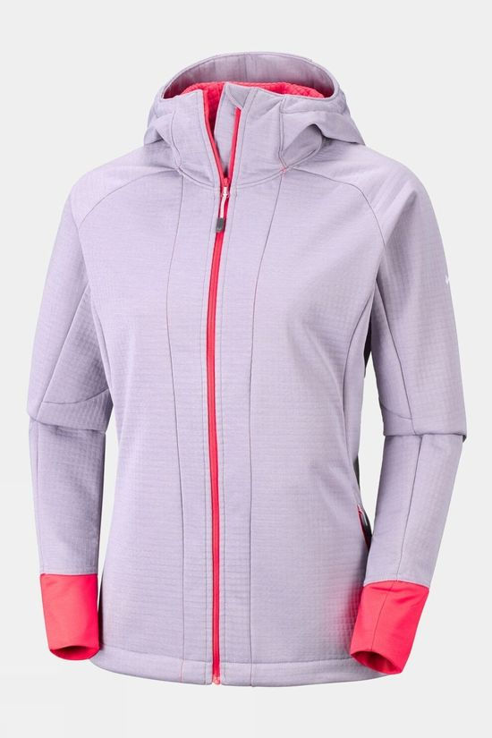 Columbia Womens Steel Cliff Hooded Softshell Jacket Astral Heather