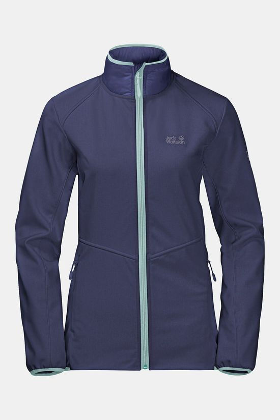 Jack Wolfskin Womens Sky Point Softshell Jacket Dark Plum