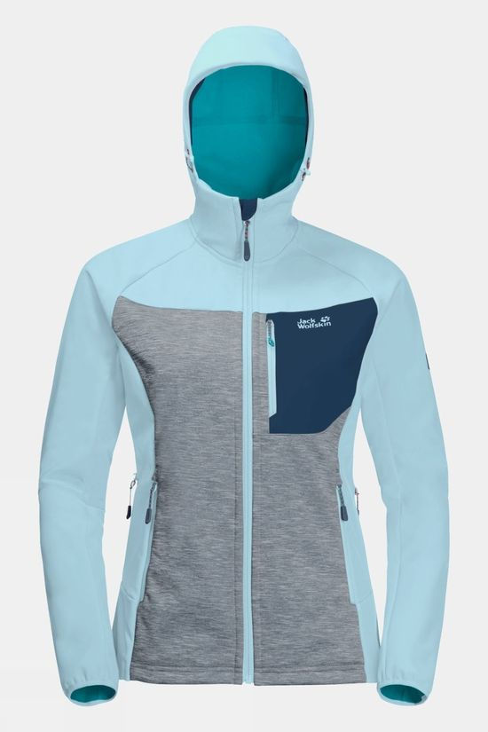Jack Wolfskin Womens Sky Peak Softshell Frosted Blue