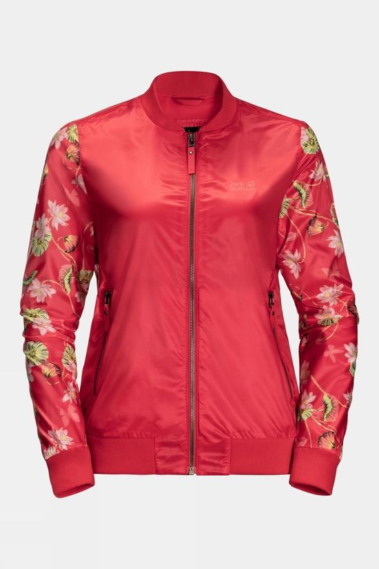 Jack Wolfskin Womens Paradise Blouson Tulip Red All Over