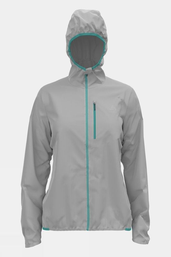 Odlo Womens Fli Windproof DWR Jacket  Odlo Silver Grey