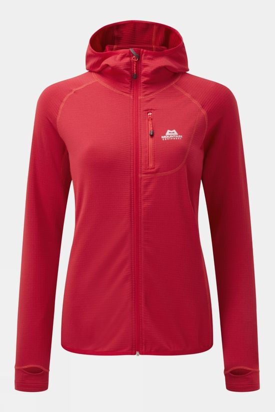 Mountain Equipment Womens Eclipse Hooded Jacket Capsicum Red