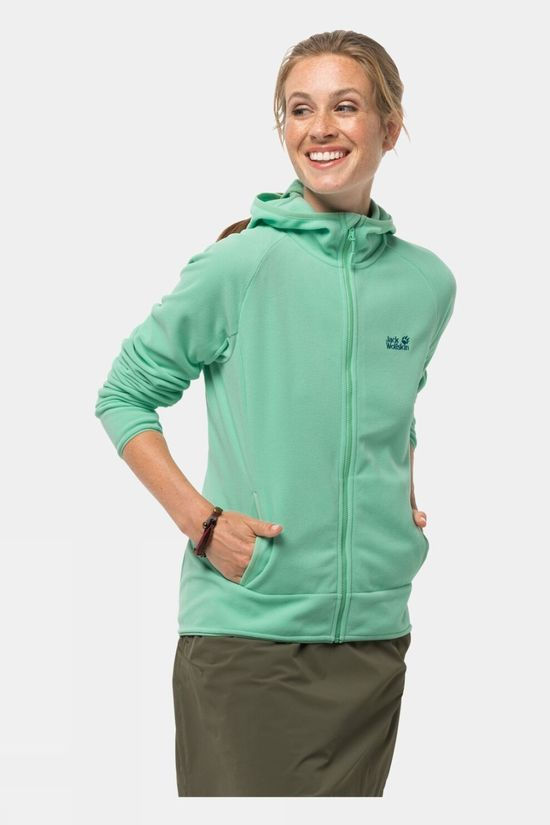 Jack Wolfskin Womens Arco Jacket Pacific Green Stripes