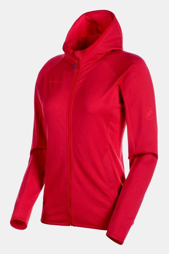 Mammut Womens Nair ML Hooded Jacket  Ruby Melange