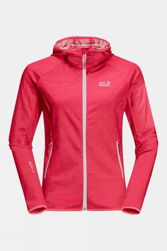 Jack Wolfskin Womens Milford Hooded Jacket Clear Red