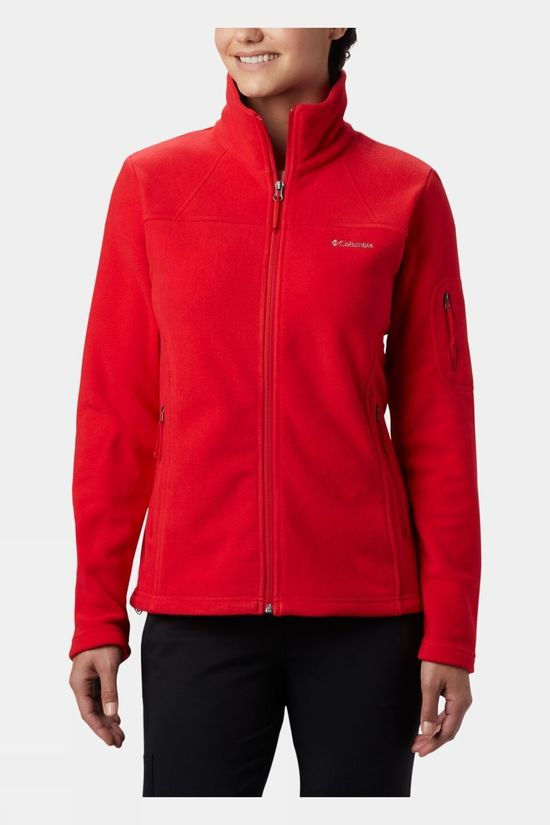 Columbia Womens Fast Trek II Jacket Red Lily