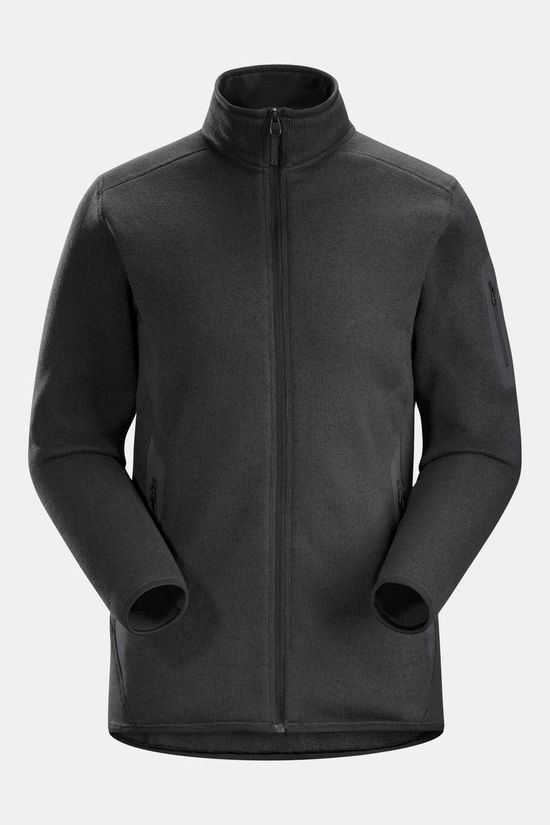 Arc'teryx Womens Covert Full Zip Sweater Black Heather