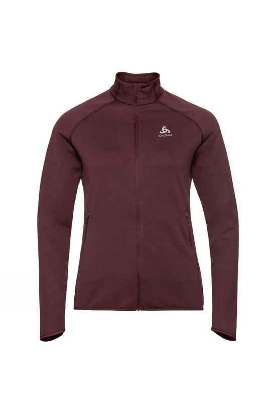 Odlo Womens Carve Ceramiwarm Midlayer Decadent Chocolate