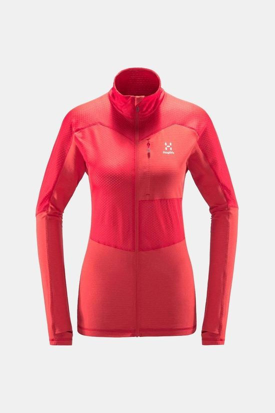 Haglofs Womens Sirro Mid Jacket Hibiscus red