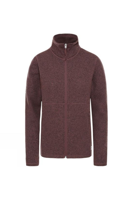 The North Face Womens Crescent Full Zip Marron Purple Black Heather