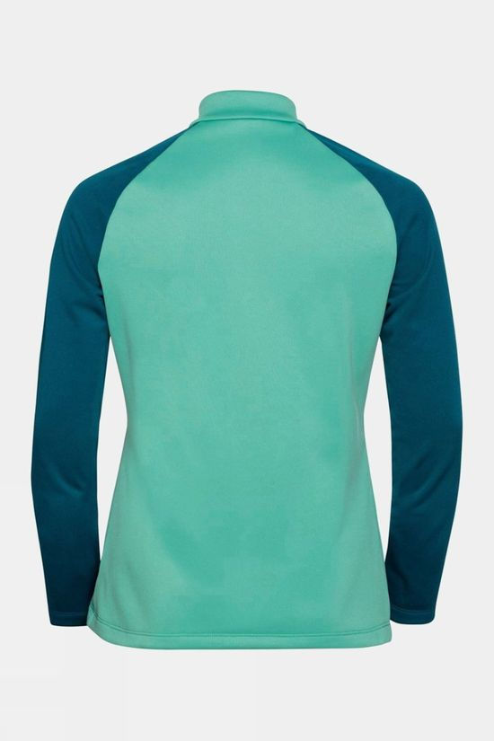 Odlo Womens Planches 1/2 Zip Midlayer Submerged - Malachite Green
