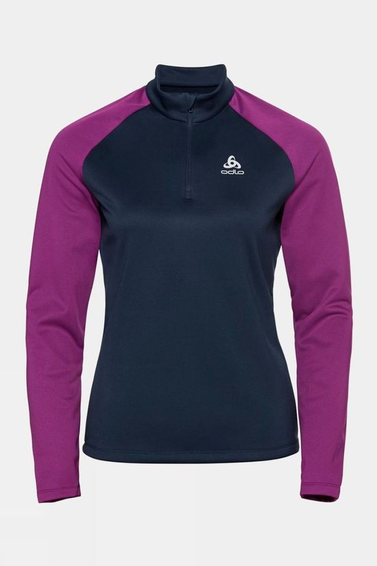 Odlo Womens Planches 1/2 Zip Midlayer Charisma - Diving Navy
