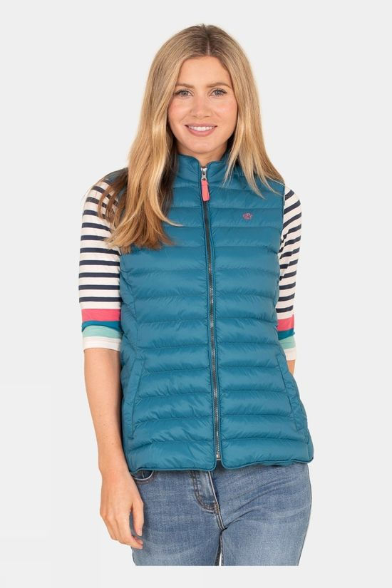 Brakeburn Womens Quilted Gilet Green