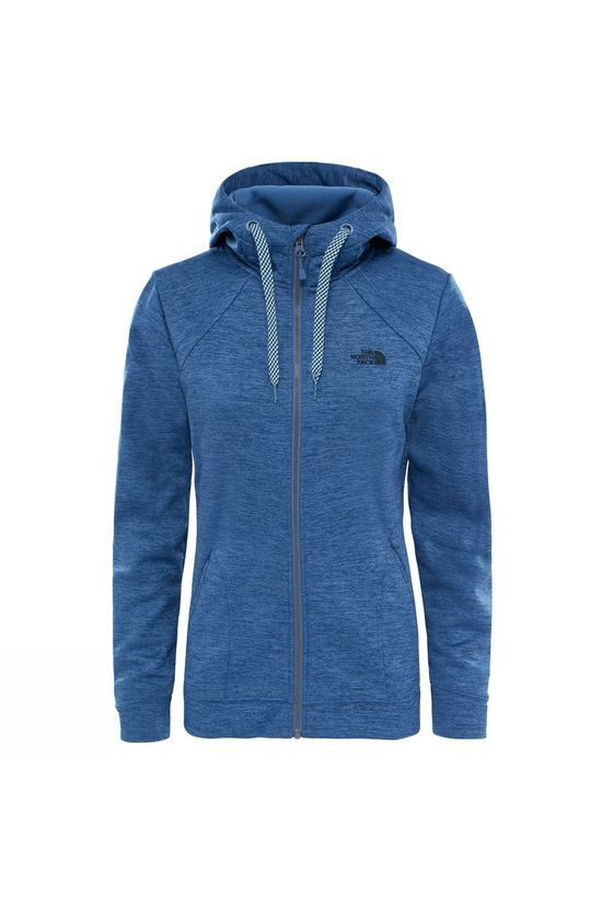The North Face Womens Kutum Full Zip Hoodie Coastal Fjord Blue