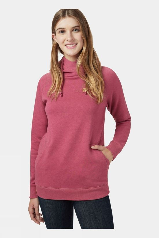 Tentree Womens Burney Hoodie Malaga Pink Heather