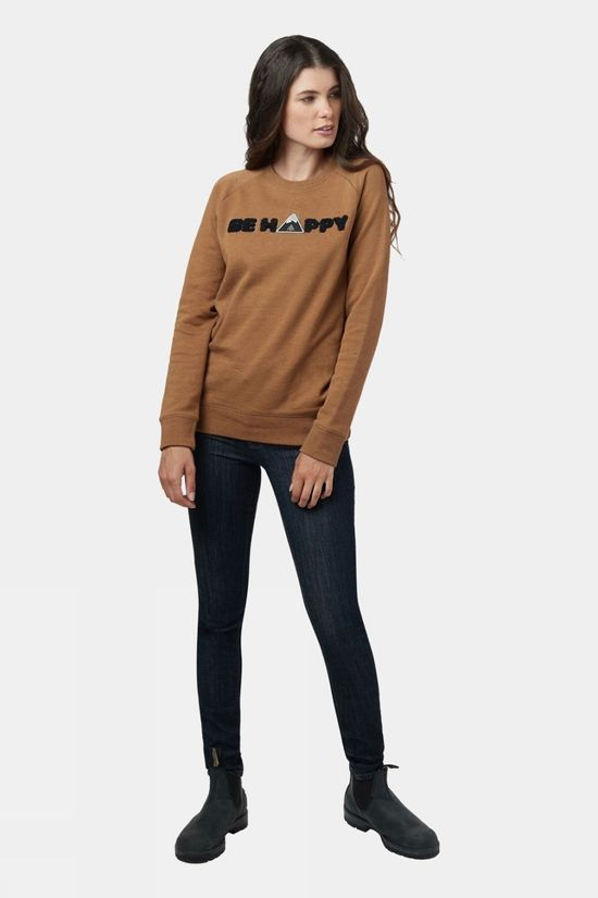 Tentree Womens Happy Crew Rubber Brown