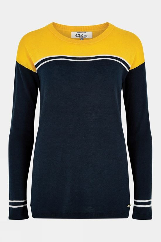 Dubarry Womens Gregory Sweater Navy/yellow