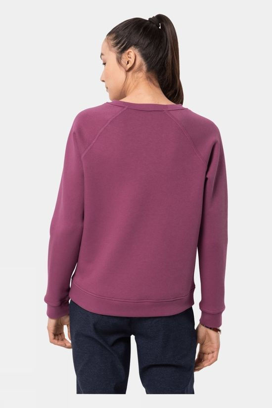 Jack Wolfskin Women's Winter Logo Sweatshirt Violet Quartz