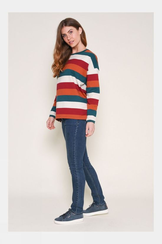 Brakeburn Womens Striped Sweater Multi